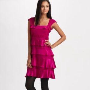 Nanette Lepore Silk Ruffle Cocktail Dress NWT